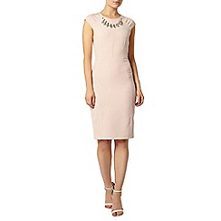 Dorothy Perkins - Blush embellished necklace pencil dress