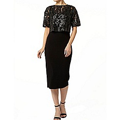 Dorothy Perkins - Black sequin 2-in-1 dress