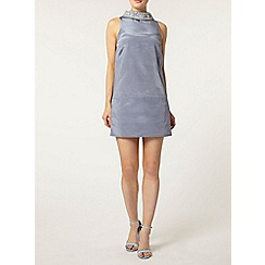 Dorothy Perkins - Silver embellished shift dress