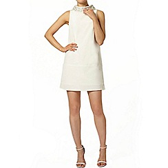 Dorothy Perkins - Ivory embellished collar shift dress