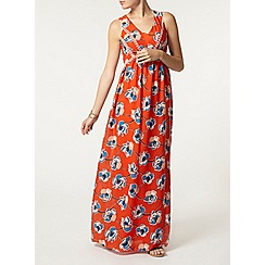 Dorothy Perkins - Orange floral lace insert maxi dress