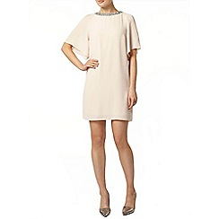 Dorothy Perkins - Blush embellished neck dress