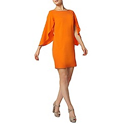 Dorothy Perkins - Orange split sleeve shift dress