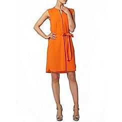 Dorothy Perkins - Orange sleeveless shirt dress
