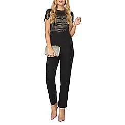 Dorothy Perkins - Black and nude lace jumpsuit