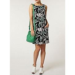 Dorothy Perkins - Green printed pinny dress
