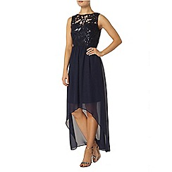 Dorothy Perkins - Navy sequin hi lo hem midi dress