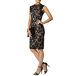 Dorothy Perkins - Black high neck lace dress