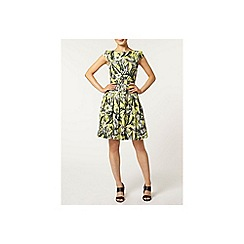 Dorothy Perkins - Lime tropical poplin dress