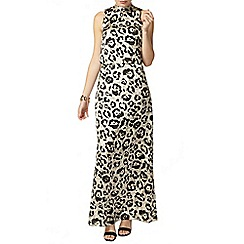 Dorothy Perkins - Lime animal maxi dress