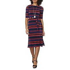Dorothy Perkins - Stripe pleated midi dress