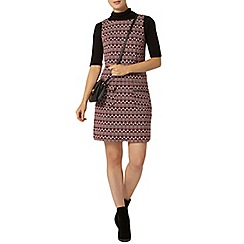 Dorothy Perkins - Wine geo print pinafore dress