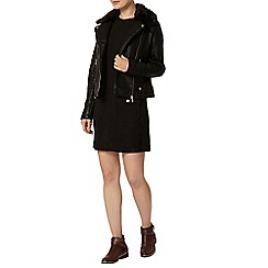 Dorothy Perkins - Black button pocket shift dress