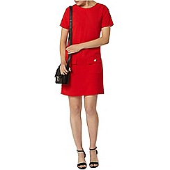 Dorothy Perkins - Red button pocket shift dress