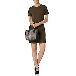 Dorothy Perkins - Khaki button pocket shift dress