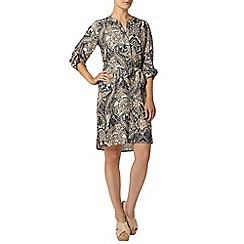Dorothy Perkins - Stone paisley shirt dress