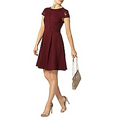 Dorothy Perkins - Burgandy laid on lace dress