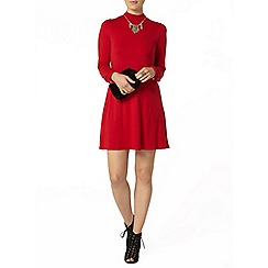 Dorothy Perkins - Red high neck swing dress