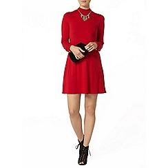 Dorothy Perkins - Red high neck swing dress