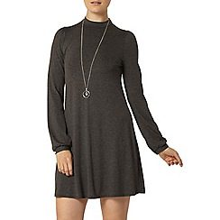 Dorothy Perkins - Grey high neck swing dress