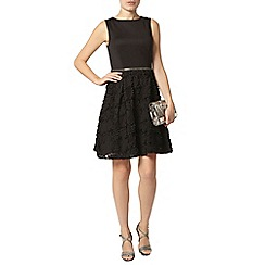 Dorothy Perkins - Black ruffle prom dress