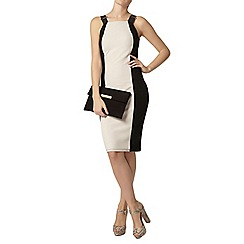 Dorothy Perkins - Black and nude strap bodycon dress