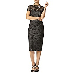 Dorothy Perkins - Silver foil lace pencil dress