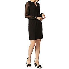 Dorothy Perkins - Black embellished cuff shift dress