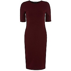 Dorothy Perkins - Wine textured bodycon dress