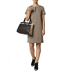 Dorothy Perkins - Geo print zip front shift dress
