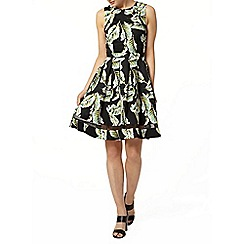 Dorothy Perkins - Leaf sateen fit and flare dress