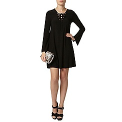Dorothy Perkins - Black lace up swing dress