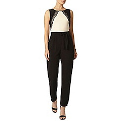 Dorothy Perkins - Blush and black lace jumpsuit