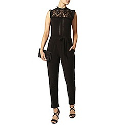 Dorothy Perkins - Black lace jersey jumpsuit