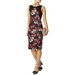 Dorothy Perkins - Black floral lace pencil dress
