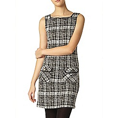 Dorothy Perkins - Mono check pinafore dress