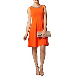 Dorothy Perkins - Orange embellished dress