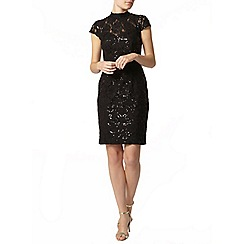 Dorothy Perkins - Black lace sequin pencil dress