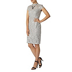 Dorothy Perkins - Grey lace sequin pencil dress