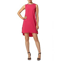 Dorothy Perkins - Fuchsia hi lo hem shift dress