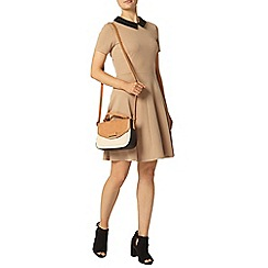 Dorothy Perkins - Camel textured dress with collar