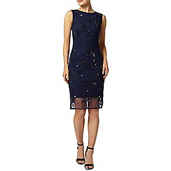 Dorothy Perkins - Navy beaded pencil dress