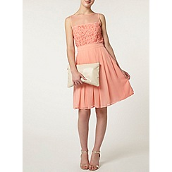 Dorothy Perkins - Coral beaded prom dress