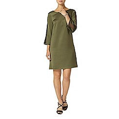 Dorothy Perkins - Khaki trim shift dress