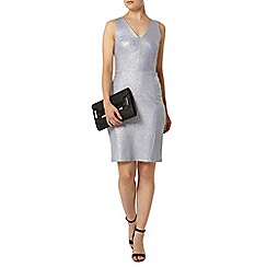 Dorothy Perkins - Blue v neck shimmer pencil dress