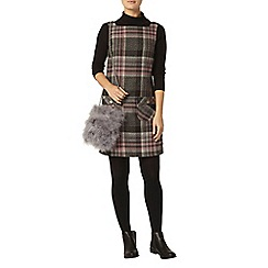 Dorothy Perkins - Grey check jersey shirt dress