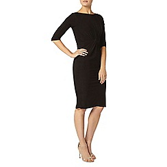 Dorothy Perkins - Black knot front bodycon dress
