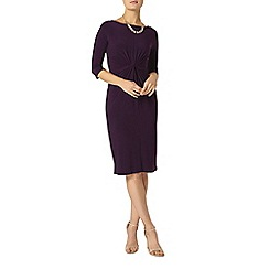 Dorothy Perkins - Purple knot front bodycon dress