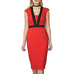 Dorothy Perkins - Red and black pencil dress
