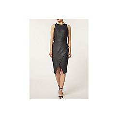 Dorothy Perkins - Jersey shimmer wrap bodycon dress